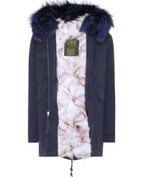 Mr & Mrs Italy - Fur-trimmed Cotton Parka - Lyst
