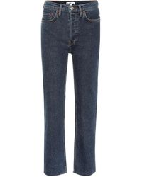 RE/DONE - Stovepipe High-rise Straight Jeans - Lyst