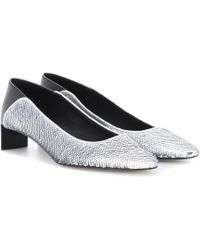 Loewe - Sequinned Court Shoes - Lyst