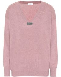 Brunello Cucinelli - Embellished Cashmere Sweater - Lyst