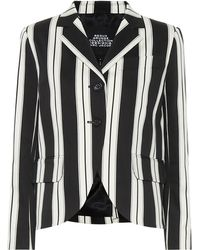 Marc Jacobs - Cropped Striped Jacket - Lyst