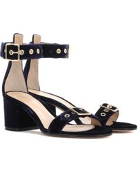 Gianvito Rossi - Exclusive To Mytheresa. Com - Hayes 60 Velvet Sandals - Lyst