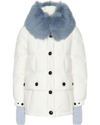 c9a326863 Lyst - Moncler Grenoble Bruche Belted Two-tone Quilted Shell Ski ...