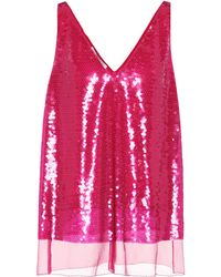 Stella McCartney - Sutton Sequinned Silk Tank Top - Lyst
