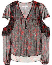 Veronica Beard - Blakely Foral-printed Silk Blouse - Lyst