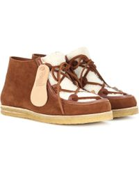 Ancient Greek Sandals - Hera Suede Ankle Boots - Lyst