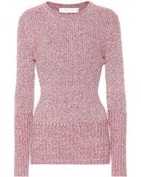 Victoria Beckham - Ribbed Wool-blend Sweater - Lyst