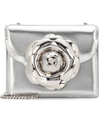 Oscar de la Renta - Tro Metallic Leather Shoulder Bag - Lyst
