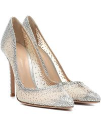 Gianvito Rossi - Rania 105 Crystal-embellished Pumps - Lyst