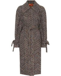Missoni - Wool And Cotton Knit Coat - Lyst