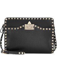 Valentino - Rockstud Leather Crossbody Bag - Lyst