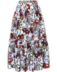 Erdem - Leigh Printed Cotton Skirt - Lyst