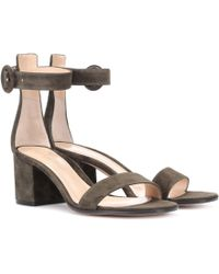 Gianvito Rossi - Exclusive To Mytheresa. Com – Versilia 60 Suede Sandals - Lyst