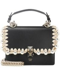 Fendi - Kan I Small Leather Shoulder Bag - Lyst