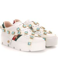 Gucci New Ace Leather Sneakers - Multicolor
