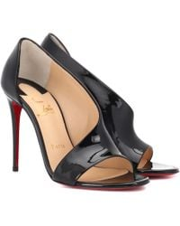 Christian Louboutin - Phoebe 100 Patent Leather Sandals - Lyst
