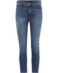 J Brand - Jeans cropped de tiro alto Ruby - Lyst