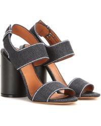 Givenchy - Edgy Denim Sandals - Lyst