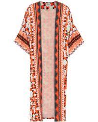 Temperley London - Odyssey Printed Crêpe Kimono - Lyst