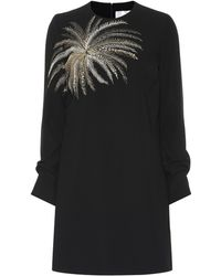 Victoria, Victoria Beckham - Vestido con palmera bordada - Lyst