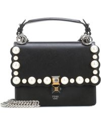 Fendi - Kan I Mini Leather Shoulder Bag - Lyst