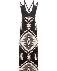 Ralph Lauren - Embellished Leather-trimmed Dress - Lyst