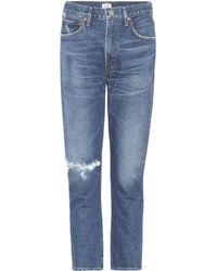 Citizens of Humanity - High-Rise Cropped Jeans Dree - Lyst