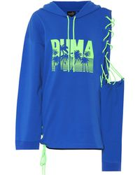 PUMA - Printed Cotton-blend Hoodie - Lyst