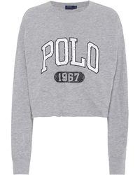 Polo Ralph Lauren - Printed Cotton Jersey Sweatshirt - Lyst