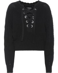 Isabel Marant - Laley Lace-up Sweater - Lyst