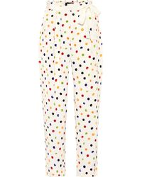 Anna October - Cropped Polka-dot Trousers - Lyst
