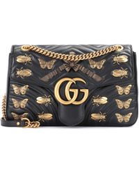 c765cf9c6a39 Gucci - GG Marmont Leather Shoulder Bag - Lyst