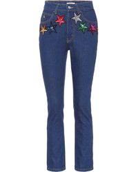 Attico | Sequinned High-waisted Jeans | Lyst