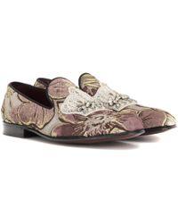 Dolce & Gabbana - Embellished Jacquard Loafers - Lyst