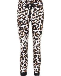 b8a2e4de068c4d Lyst - The Upside Leopard-camo Drawstring Capri Leggings in Green