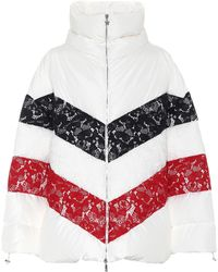 Moncler Gamme Rouge | Oversized Lace-trimmed Down Jacket | Lyst