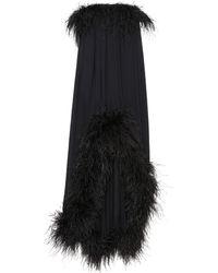 Saint Laurent - Feather-trimmed Dress - Lyst