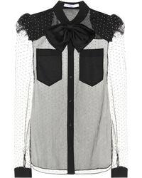 Givenchy - Embellished Mesh Blouse - Lyst
