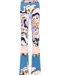 Emilio Pucci - Paisley-printed Jersey Pants - Lyst