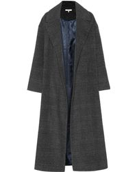 Ganni - Woodside Checked Wool-blend Coat - Lyst
