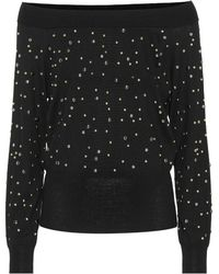 Elie Saab - Embellished Wool Sweater - Lyst