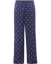Beautiful Bottoms - Polka-dot Silk Pyjama Bottoms - Lyst