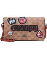 COACH - X Disney® Grumpy Logo Leather Shoulder Bag - Lyst