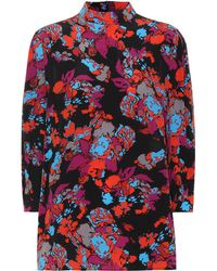 Givenchy - Printed Silk Top - Lyst