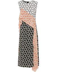 Diane von Furstenberg - Printed Silk Dress - Lyst