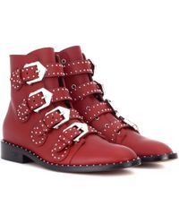 Givenchy - Elegant Leather Ankle Boots - Lyst