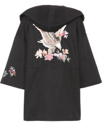 RED Valentino - Embroidered Cotton Coat - Lyst