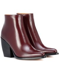 Chloé - Rylee Low Leather Ankle Boots - Lyst