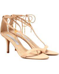 cef6674985c Lyst - Stella McCartney Chunky Heel Sandals in Brown