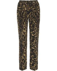 Stella McCartney - Leopard-printed Silk Trousers - Lyst